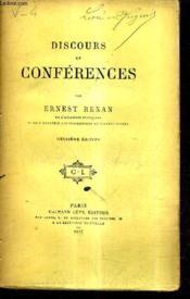 Discours Et Conferences / 2e Edition. - Couverture - Format classique