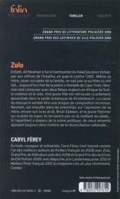 Zulu - 4ème de couverture - Format classique