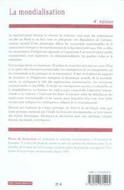 La mondialisation ; théories, enjeux et débats (4e édition) (4e édition) - 4ème de couverture - Format classique
