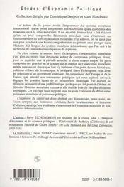 L'Expansion Du Capital ; Une Histoire Du Systeme Monetaire International - 4ème de couverture - Format classique