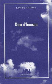 Rien d'humain - Couverture - Format classique