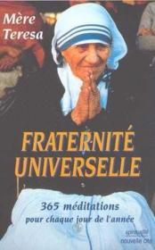 Fraternite universelle ; 365 mediations pour chaque jour de l'annee - Couverture - Format classique