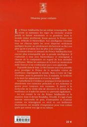 Le prince siddhartha - 4ème de couverture - Format classique