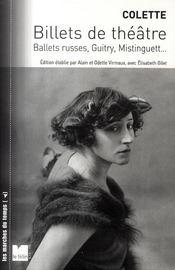 Billets de théâtre ; ballets russes, Guitry, Mistinguett... - Couverture - Format classique