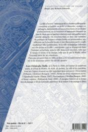 La ville à l'oeuvre - 4ème de couverture - Format classique