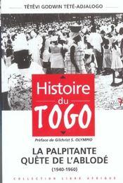 Histoire du togo t.1 - Intérieur - Format classique