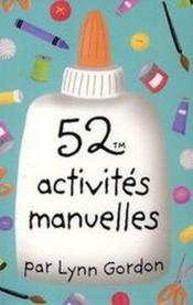 52 activités manuelles - Couverture - Format classique