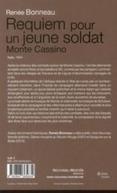 Requiem pour un jeune soldat ; Monte Cassino - 4ème de couverture - Format classique