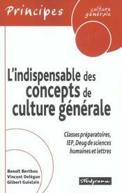 Indispensable Des Concepts De Culture Generale - Intérieur - Format classique