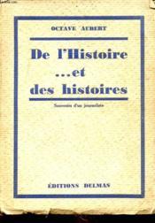 De L Histoire... Et Des Histoires - Couverture - Format classique
