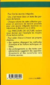 Desert - Parcours De Lecture - 4ème de couverture - Format classique