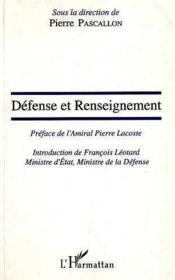 Defense Et Renseignement - Couverture - Format classique
