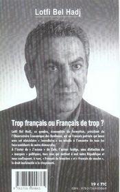 Trop français ou français de trop ? - 4ème de couverture - Format classique
