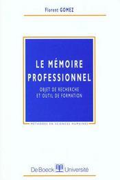 Le mémoire professionnel - Intérieur - Format classique