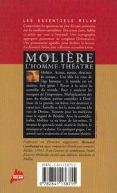 Moliere, L'Homme-Theatre - 4ème de couverture - Format classique