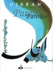 Paroles (Calligraphie) - Couverture - Format classique