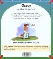 Oscar va chez le docteur - 4ème de couverture - Format classique