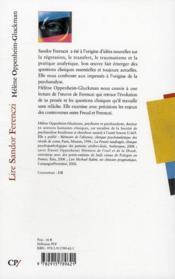 Lire Sandor Ferenczi ; un disciple turbulent - 4ème de couverture - Format classique