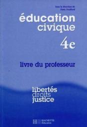 Education Civique 4e ; Professeur - Couverture - Format classique