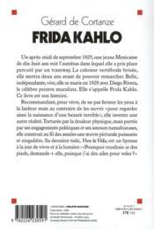 Frida Kahlo ; la beauté terrible - 4ème de couverture - Format classique