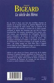 Le Siecle Des Heros - 4ème de couverture - Format classique
