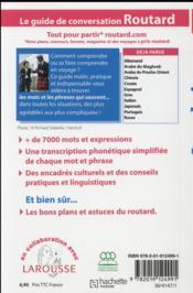 LE GUIDE DE CONVERSATION ROUTARD ; anglais - 4ème de couverture - Format classique