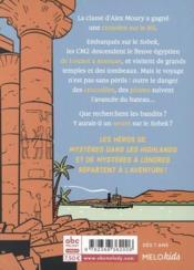 Mystères sur le Nil - 4ème de couverture - Format classique