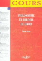 Philosophie et théorie du droit - Intérieur - Format classique