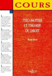 Philosophie et théorie du droit - Couverture - Format classique