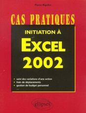 Initiation A Excel 2002 - Intérieur - Format classique