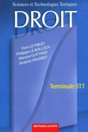 Droit Terminale Stt - Couverture - Format classique