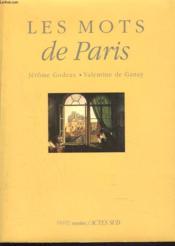 Les mots de paris - Couverture - Format classique
