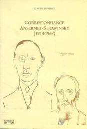 Correspondances T.1 Ansermet-Strawinsky (191 - Couverture - Format classique