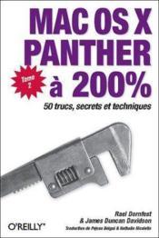 Mac Os X Panther A 200% - Couverture - Format classique