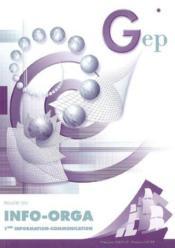 Info Orga ; 1ere Com ; Enonce - Couverture - Format classique