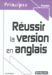 Réussir la version en anglais - Intérieur - Format classique