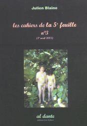 Les Cahiers De La Cinquieme Feuille T.3 - Intérieur - Format classique