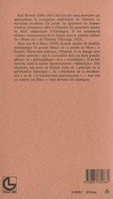 Karl marx - 4ème de couverture - Format classique