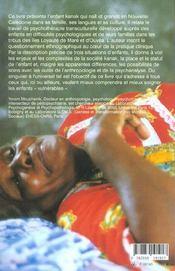 L enfant vulnerable 3 etudes psychotherapiques de l enfant en pays kanak - 4ème de couverture - Format classique