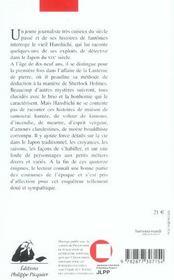Fantomes Et Samourais - 4ème de couverture - Format classique