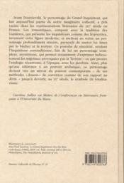 Le grand inquisiteur ; naissance d'une figure myhtique au XIX siècle - 4ème de couverture - Format classique