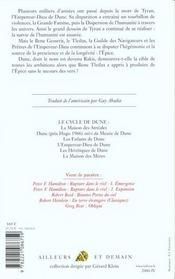 Les heretiques de dune - tome 4 - n.e - 4ème de couverture - Format classique