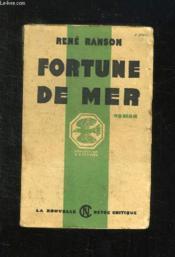 Fortune De Mer. - Couverture - Format classique