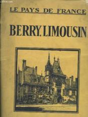 Le Pays De France - Berry, Limousin - Couverture - Format classique