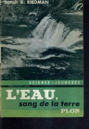 L'Eau Sang De La Terre. - Couverture - Format classique