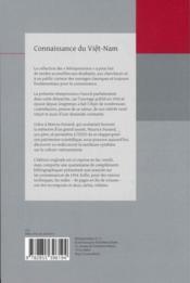 Connaissance du Viêt-Nam - 4ème de couverture - Format classique