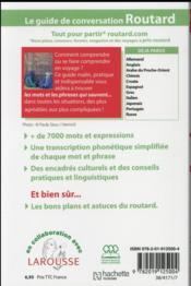 Le guide de conversation Routard ; arabe du Maghreb - 4ème de couverture - Format classique