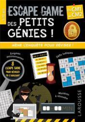 Escape games des petits génies ! ; du CM1 au CM2 - Couverture - Format classique