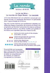 Je lis avec Montessori ; la rando - 4ème de couverture - Format classique