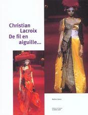 Christian Lacroix De Fil En Aiguille - Intérieur - Format classique